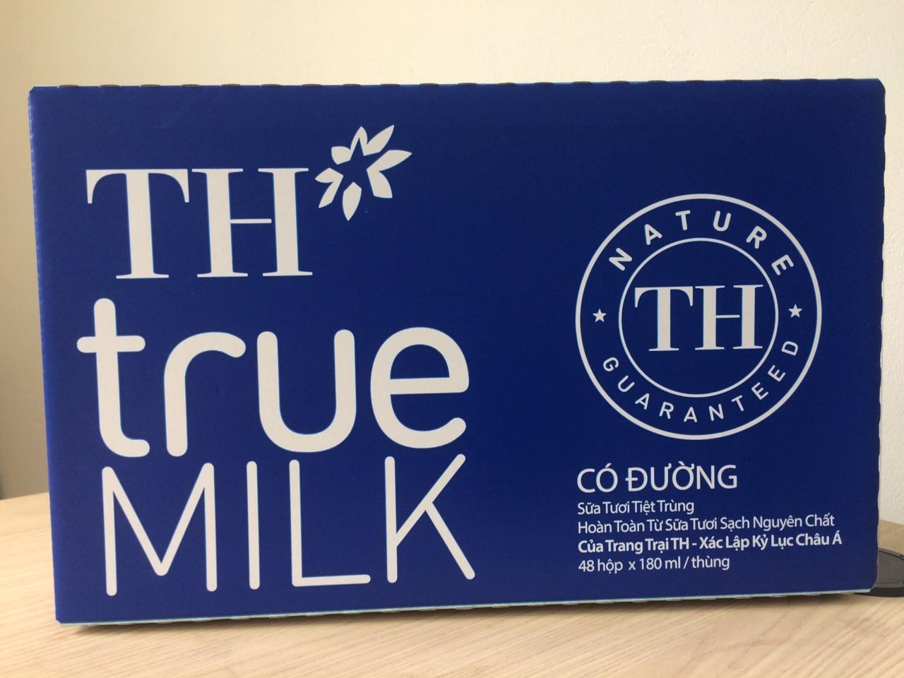 Thùng sữa tươi tiệt trùng có đường